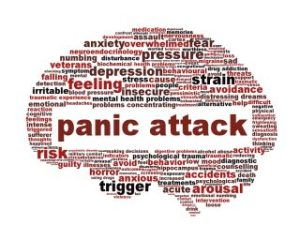 Panic attack icon design isolated on white. Mental health disorder symbol concept