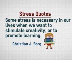 Necessary stress quotes